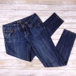 SEVEN7 Women's Skinny Dark Wash Jeans Sz 28